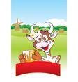 farm cow vector image vector image