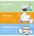 Flat concepts for education vector image vector image