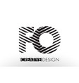fo f o lines letter design with creative elegant vector image