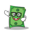 geek face dollar character cartoon style vector image vector image