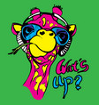 giraffe for t-shirt portrait vector image vector image