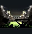 green football field vector image vector image