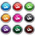 hand holding stopwatch set 9 collection vector image vector image