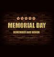 happy memorial day greeting card vector image vector image