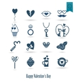 Happy Valentines Day Icons vector image vector image