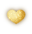 heart golden glitter isoleted on white background vector image