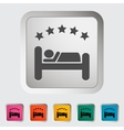 Hotel single icon vector image