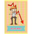 Idiom saying in the red vector image vector image