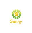 initial s flower sunny sun sunrise spring logo vector image vector image