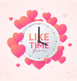like time concept with realistic detailed 3d wall vector image vector image