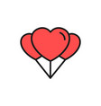 love balloons icon for wedding concept design vector image