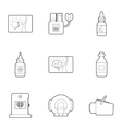 Medical examination icons set outline style vector image vector image