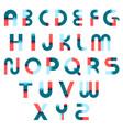memphis alphabet constructor set vector image vector image