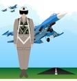 Military Uniform Force pilot vector image vector image