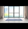 mockup entrance room with glass door vector image vector image