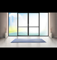 mockup of entrance room with glass door vector image vector image