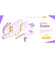 online exam internet quiz or survey distant vector image vector image