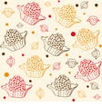 Pattern with chocolates vector image vector image