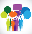 People Colorful Speech Bubbles vector image vector image