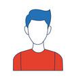 portrait man young person cartoon vector image vector image