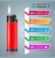 realistic lighter - business infographic and vector image