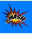 retro cartoon explosion pop art comic smash symbol vector image