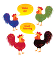 Rooster Cartoon Characters vector image