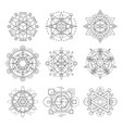 sacred geometry symbols esoteric astrology vector image