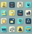 Scales Weight Icons Flat vector image vector image