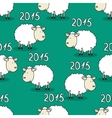 seamless pattern funny sheep vector image vector image