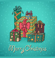 set of cartoon christmas gifts vector image vector image