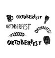 set of oktoberfest lettering vector image