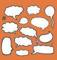 set sketched speech bubbles vector image vector image