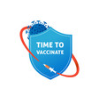 shield protection from coronavirus vaccination vector image vector image