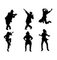 silhouettes dancing people vector image