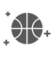 sport game glyph icon game and play ball sign vector image vector image