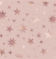 stars rose gold elegant texture vector image