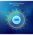 Tecnhology elements on dark blue background vector image vector image