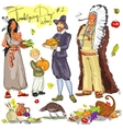 Thanksgiving day hand drawn collection Set 2 vector image vector image
