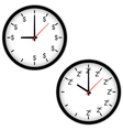The Clock concept with time to work and sleep vector image vector image