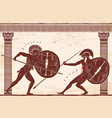 two ancient greek warrior vector image vector image