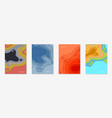 vertical banners set with 3d abstract background vector image vector image