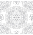 Vintage seamless pattern with lace circles vector image vector image