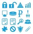 Webdesign symbols set vector image