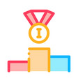 winning medal for 1st place icon outline vector image vector image