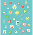 work items and graphics business icons pattern vector image