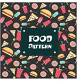 food pattern burger pizza donut ice cream backgrou vector image