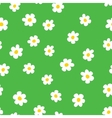 Cartoon flowers seamless pattern vector image