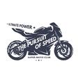 Sport superbike motorcycle vector image