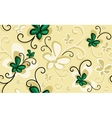 Background with emerald flowers vector image